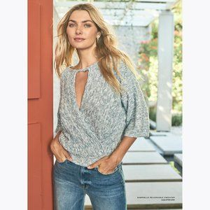 MICHAEL STARS Coral Gabrielle Reversible Sweater S